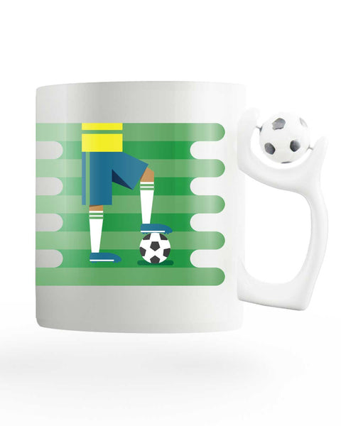 Brazil Field Rotating Football Mug