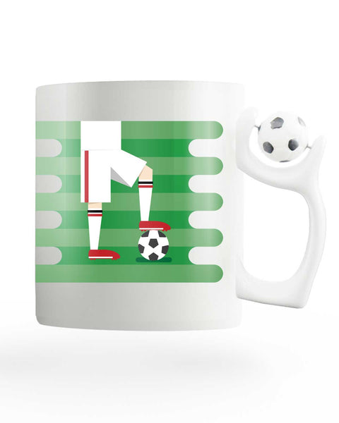 England Field Rotating Football Mug
