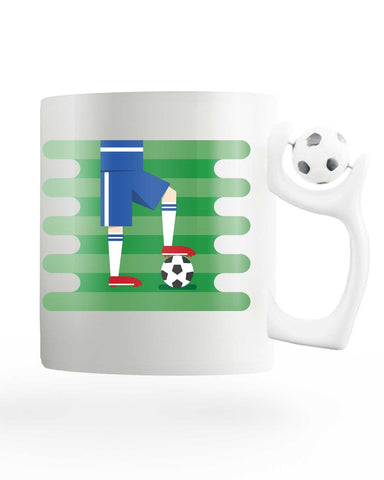 France Field Rotating Football Mug
