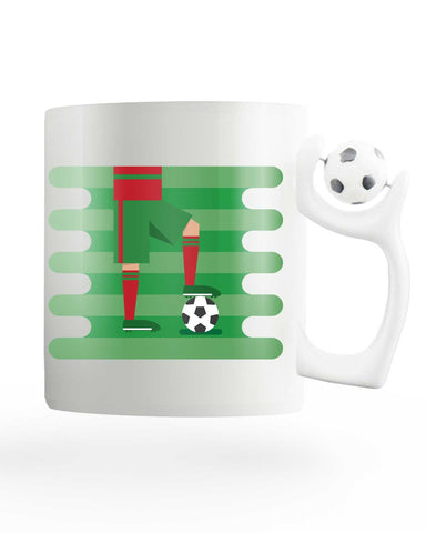 Portugal Field Rotating Football Mug