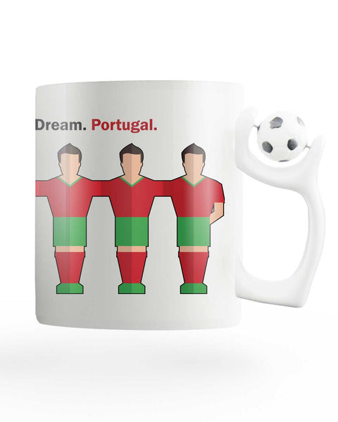 Team Portugal Rotating Football Mug