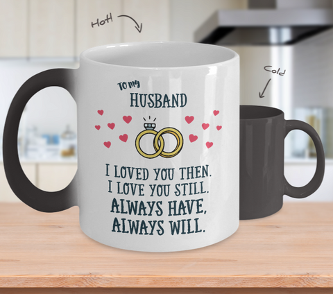 Gift for Husband Color Changing Magic Coffee Mug