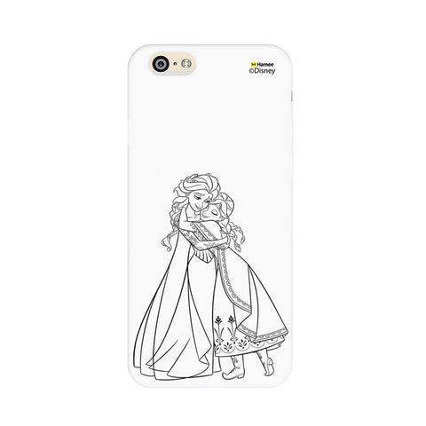 Disney Princess Frozen (Anna Elsa / Outline) iPhone 6 Plus / 6S Plus Covers