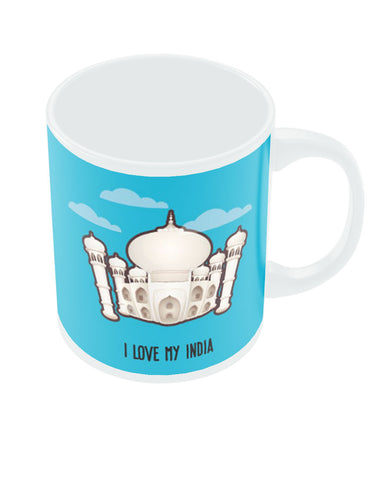 PosterGuy Taj Mahal I Love My India White Mug