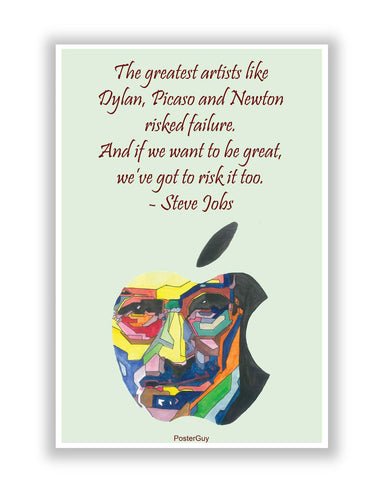 Buy Motivational Posters Online | Steve Jobs Apple Risk It Motivational Quote Poster | PosterGuy.in