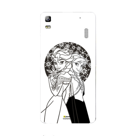 Disney Princess Frozen (Elsa Anna / Black White) Lenovo A7000