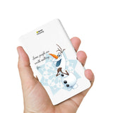Livtel x Hamee Disney Princess Licensed Frozen 5000 mAh PowerBank with LED indicators and Reversible Micro-USB cable (Olaf / Melt)
