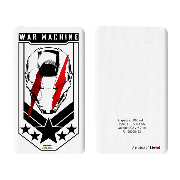 Livtel x Hamee Marvel Licensed Avengers 5000 mAh PowerBank with LED indicators and Reversible Micro-USB cable (War Machine)