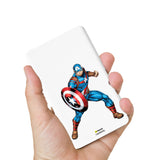 Livtel x Hamee Marvel Licensed Avengers 5000 mAh PowerBank with LED indicators and Reversible Micro-USB cable (Captain America / Pose)
