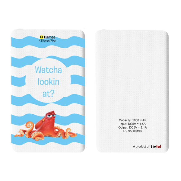 Livtel x Hamee Disney Pixar Licensed Finding Dory 5000 mAh PowerBank with LED indicators and Reversible Micro-USB cable (Hank / Watcha Lookin At)