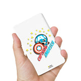 Livtel x Hamee Marvel Licensed Avengers 5000 mAh PowerBank with LED indicators and Reversible Micro-USB cable (Kawaii / Captain America)