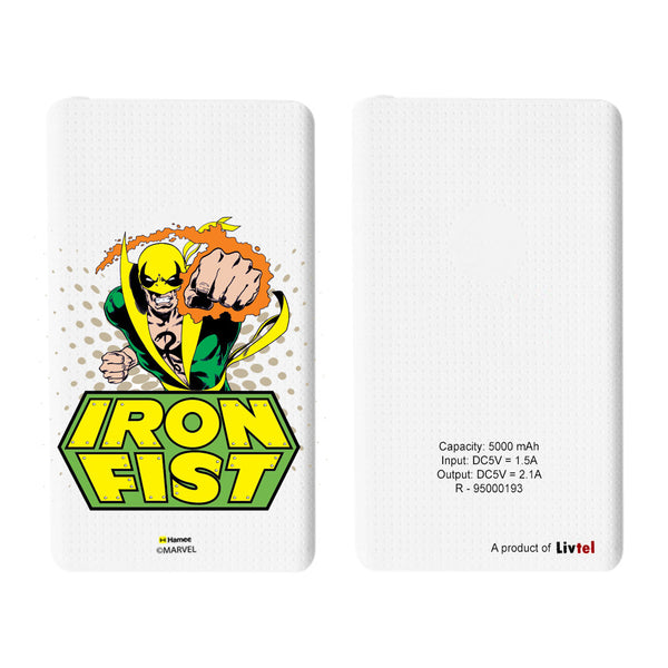 Livtel x Hamee Marvel Licensed Avengers 5000 mAh PowerBank with LED indicators and Reversible Micro-USB cable (Iron Fist)