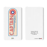 Livtel x Hamee Marvel Licensed Avengers 5000 mAh PowerBank with LED indicators and Reversible Micro-USB cable (Captain America / Badge)
