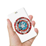 Livtel x Hamee Marvel Licensed Avengers 5000 mAh PowerBank with LED indicators and Reversible Micro-USB cable (Captain America / Doodles)