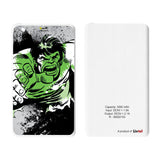 Livtel x Hamee Marvel Licensed Avengers 5000 mAh PowerBank with LED indicators and Reversible Micro-USB cable (Hulk / Green Full)