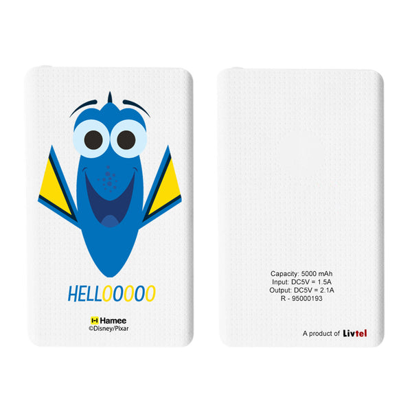 Livtel x Hamee Disney Pixar Licensed Finding Dory 5000 mAh PowerBank with LED indicators and Reversible Micro-USB cable (Dory / Hello)