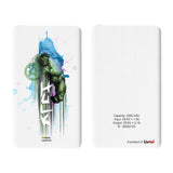 Livtel x Hamee Marvel Licensed Avengers 5000 mAh PowerBank with LED indicators and Reversible Micro-USB cable (Watercolour / Hulk)