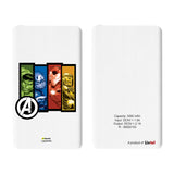 Livtel x Hamee Marvel Licensed Avengers 5000 mAh PowerBank with LED indicators and Reversible Micro-USB cable (Avengers Group 3)