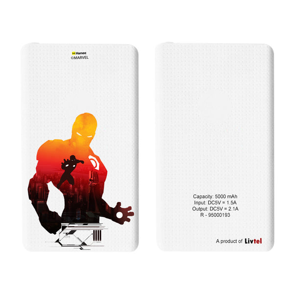 Livtel x Hamee Marvel Licensed Avengers 5000 mAh PowerBank with LED indicators and Reversible Micro-USB cable (Iron Man / Shadow)