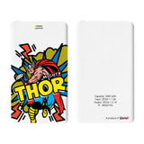 Livtel x Hamee Marvel Licensed Avengers 5000 mAh PowerBank with LED indicators and Reversible Micro-USB cable (Thor / Pop Art)