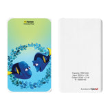 Livtel x Hamee Disney Pixar Licensed Finding Dory 5000 mAh PowerBank with LED indicators and Reversible Micro-USB cable (Dory / Parents)