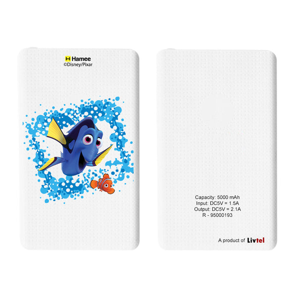 Livtel x Hamee Disney Pixar Licensed Finding Dory 5000 mAh PowerBank with LED indicators and Reversible Micro-USB cable (Dory Nemo / Splash)