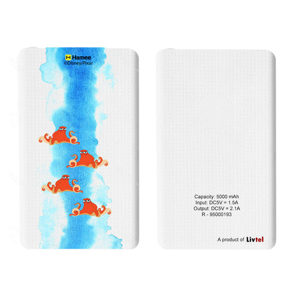 Livtel x Hamee Disney Pixar Licensed Finding Dory 5000 mAh PowerBank with LED indicators and Reversible Micro-USB cable (Hank / Small)