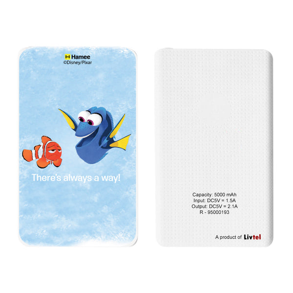 Livtel x Hamee Disney Pixar Licensed Finding Dory 5000 mAh PowerBank with LED indicators and Reversible Micro-USB cable (There's Always A Way)