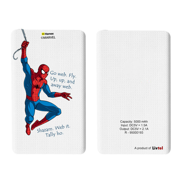 Livtel x Hamee Marvel Licensed The Ultimate Spiderman 5000 mAh PowerBank with LED indicators and Reversible Micro-USB cable (Go Web)