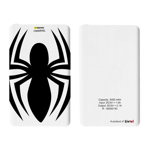 Livtel x Hamee Marvel Licensed The Ultimate Spiderman 5000 mAh PowerBank with LED indicators and Reversible Micro-USB cable (Big Spider)