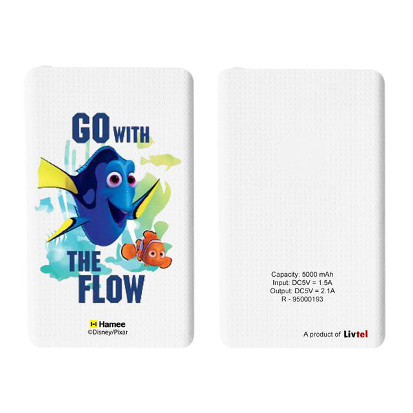 Livtel x Hamee Disney Pixar Licensed Finding Dory 5000 mAh PowerBank with LED indicators and Reversible Micro-USB cable (Go With The Flow)