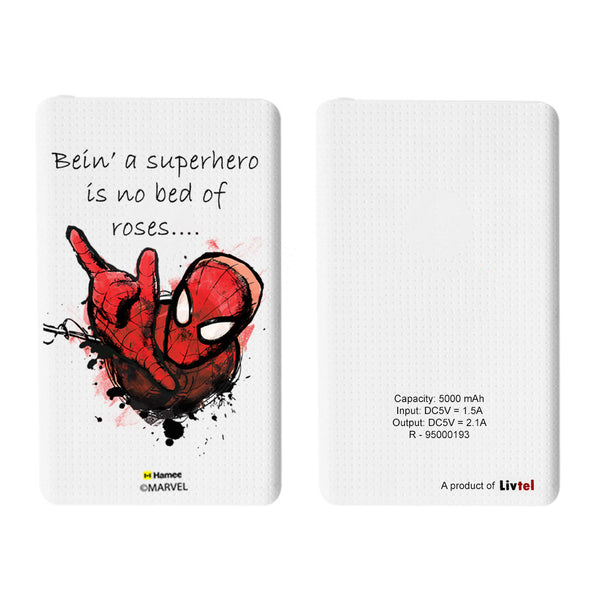 Livtel x Hamee Marvel Licensed The Ultimate Spiderman 5000 mAh PowerBank with LED indicators and Reversible Micro-USB cable (Bein' A Superhero)