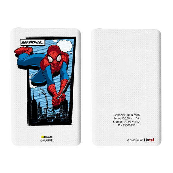 Livtel x Hamee Marvel Licensed The Ultimate Spiderman 5000 mAh PowerBank with LED indicators and Reversible Micro-USB cable (Meanwhile Comic)