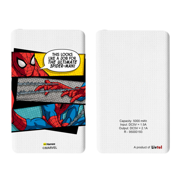 Livtel x Hamee Marvel Licensed The Ultimate Spiderman 5000 mAh PowerBank with LED indicators and Reversible Micro-USB cable (Spiderman Job)