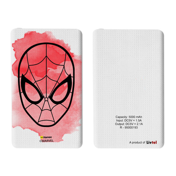 Livtel x Hamee Marvel Licensed The Ultimate Spiderman 5000 mAh PowerBank with LED indicators and Reversible Micro-USB cable (Face / Splash)