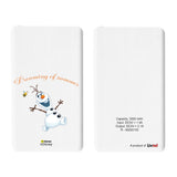 Livtel x Hamee Disney Princess Licensed Frozen 5000 mAh PowerBank with LED indicators and Reversible Micro-USB cable (Olaf / Summer)