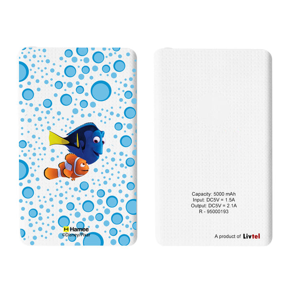 Livtel x Hamee Disney Pixar Licensed Finding Dory 5000 mAh PowerBank with LED indicators and Reversible Micro-USB cable (Marlin Dory / Bubbles)
