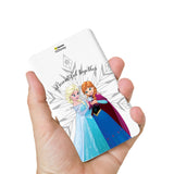 Livtel x Hamee Disney Princess Licensed Frozen 5000 mAh PowerBank with LED indicators and Reversible Micro-USB cable (Anna Elsa / Beautiful)