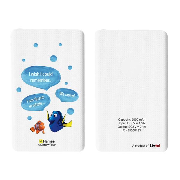 Livtel x Hamee Disney Pixar Licensed Finding Dory 5000 mAh PowerBank with LED indicators and Reversible Micro-USB cable (Dory / Conversation)