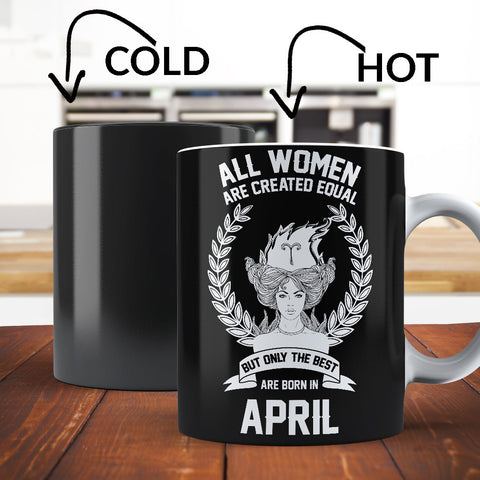 Born In April Aries Color Changing Magic Coffee Mug