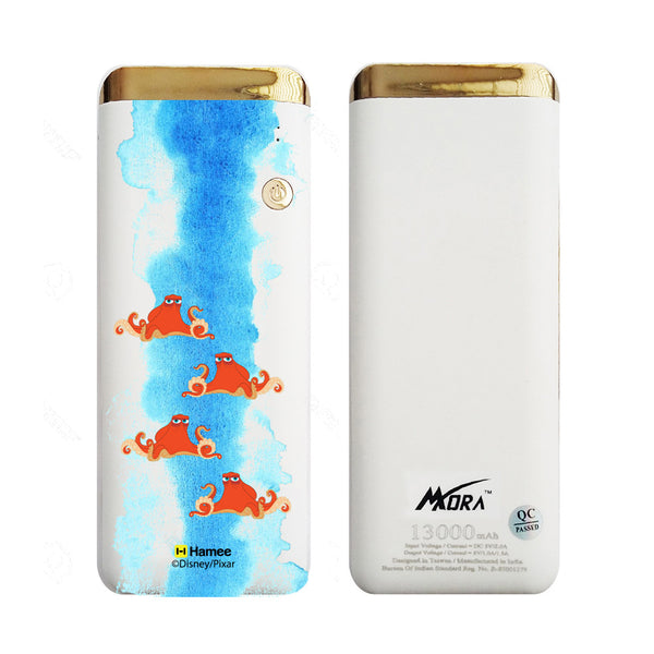 MORA x Hamee Designer Disney Pixar Finding Dory Licensed 13000 mAh BIS Certified Colour Changing LED Light Torch Power Bank (Hank / Watercolour)