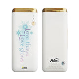 MORA x Hamee Designer Disney Princess Frozen Licensed 13000 mAh BIS Certified Colour Changing LED Light Torch Power Bank (Love Thaws Love Glows)