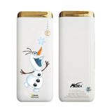 MORA x Hamee Designer Disney Princess Frozen Licensed 13000 mAh BIS Certified Colour Changing LED Light Torch Power Bank (Olaf / Catching Snowflake)