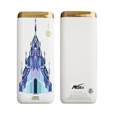 MORA x Hamee Designer Disney Princess Frozen Licensed 13000 mAh BIS Certified Colour Changing LED Light Torch Power Bank (Elsa / Palace)