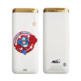 MORA x Hamee Designer Marvel Licensed 13000 mAh BIS Certified Colour Changing LED Light Torch Power Bank (The First Avenger / Captain America)