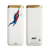 MORA x Hamee Designer Marvel Licensed 13000 mAh BIS Certified Colour Changing LED Light Torch Power Bank (Spiderman / Swinging)