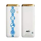 MORA x Hamee Designer Marvel Licensed 13000 mAh BIS Certified Colour Changing LED Light Torch Power Bank (Avengers Border / Blue Logo)