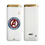 MORA x Hamee Designer Marvel Licensed 13000 mAh BIS Certified Colour Changing LED Light Torch Power Bank (Avengers Logo)