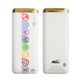 MORA x Hamee Designer Marvel Licensed 13000 mAh BIS Certified Colour Changing LED Light Torch Power Bank (Avengers Border / Circles)