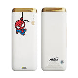MORA x Hamee Designer Marvel Licensed 13000 mAh BIS Certified Colour Changing LED Light Torch Power Bank (Spiderman / Kawaii)